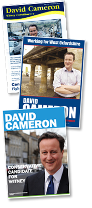 Printed Campaign Leaflets for David Cameron